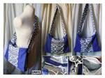 Sac bleu-mauve motif gris by Emillye