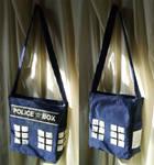 Sac inspiration TARDIS Dr. Who by Emillye