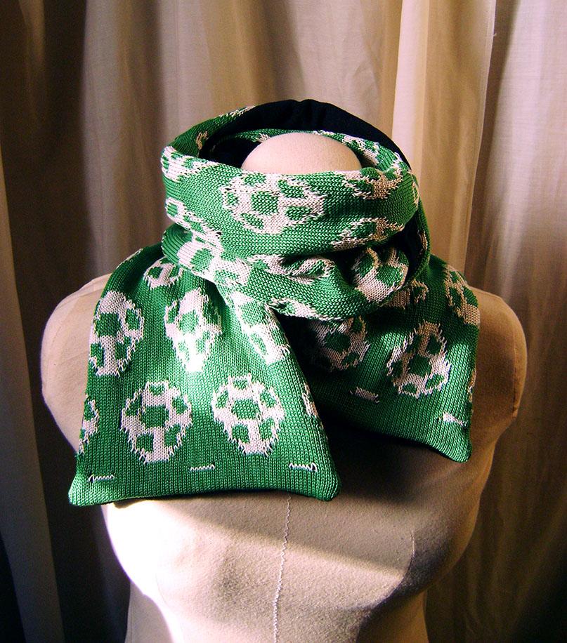 Echarpe tricote oeuf de Yoshi green by Emillye