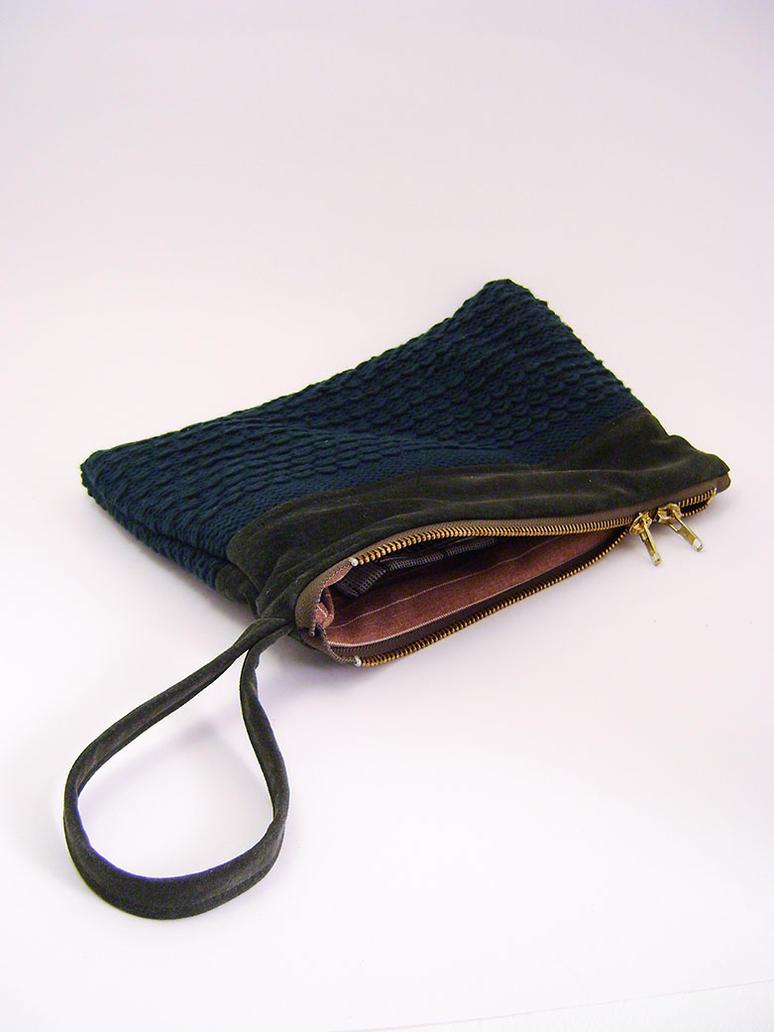 Pochette a dragonne, kit travel, pouch, green by Emillye