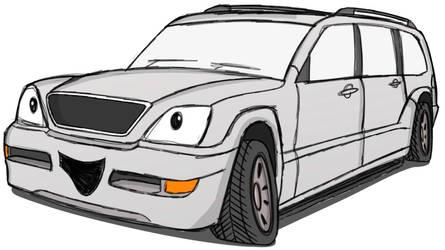 Sketchtober #12 - Lexus GX470