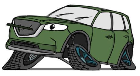Sketchtober #14 - Mazda CX-9