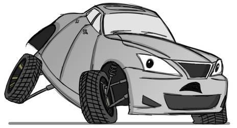 Sketchtober #15 - Lexus IS350