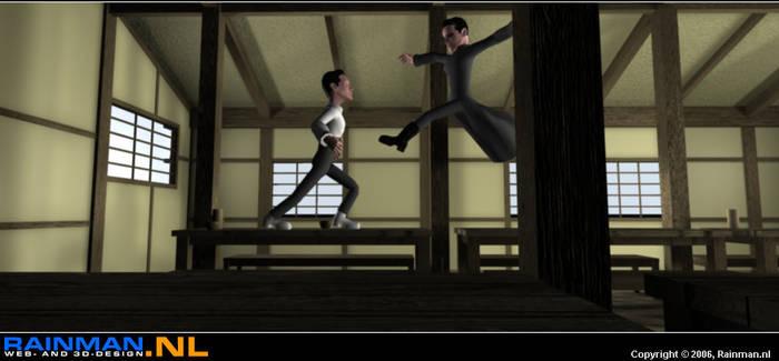 The Matrix - Cartoon style