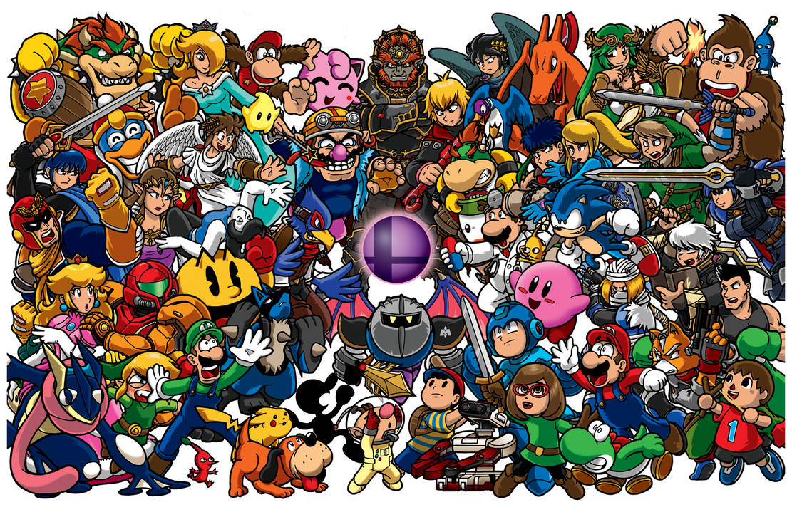 Smash Brothers Poster - Nintendo Force magazine
