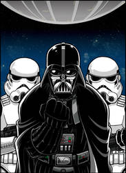 RETRO Magazine art - Darth Vader and friends