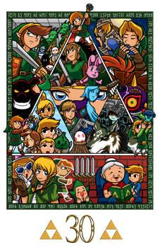 Zelda collage 30th anniversary
