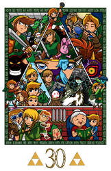 Zelda collage 30th anniversary