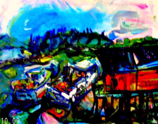 Friendship Harbor Maine by LaurieLefebvre