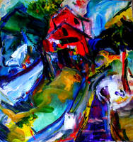 Boothbay Maine abstract by LaurieLefebvre