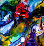 Boothbay Maine abstract