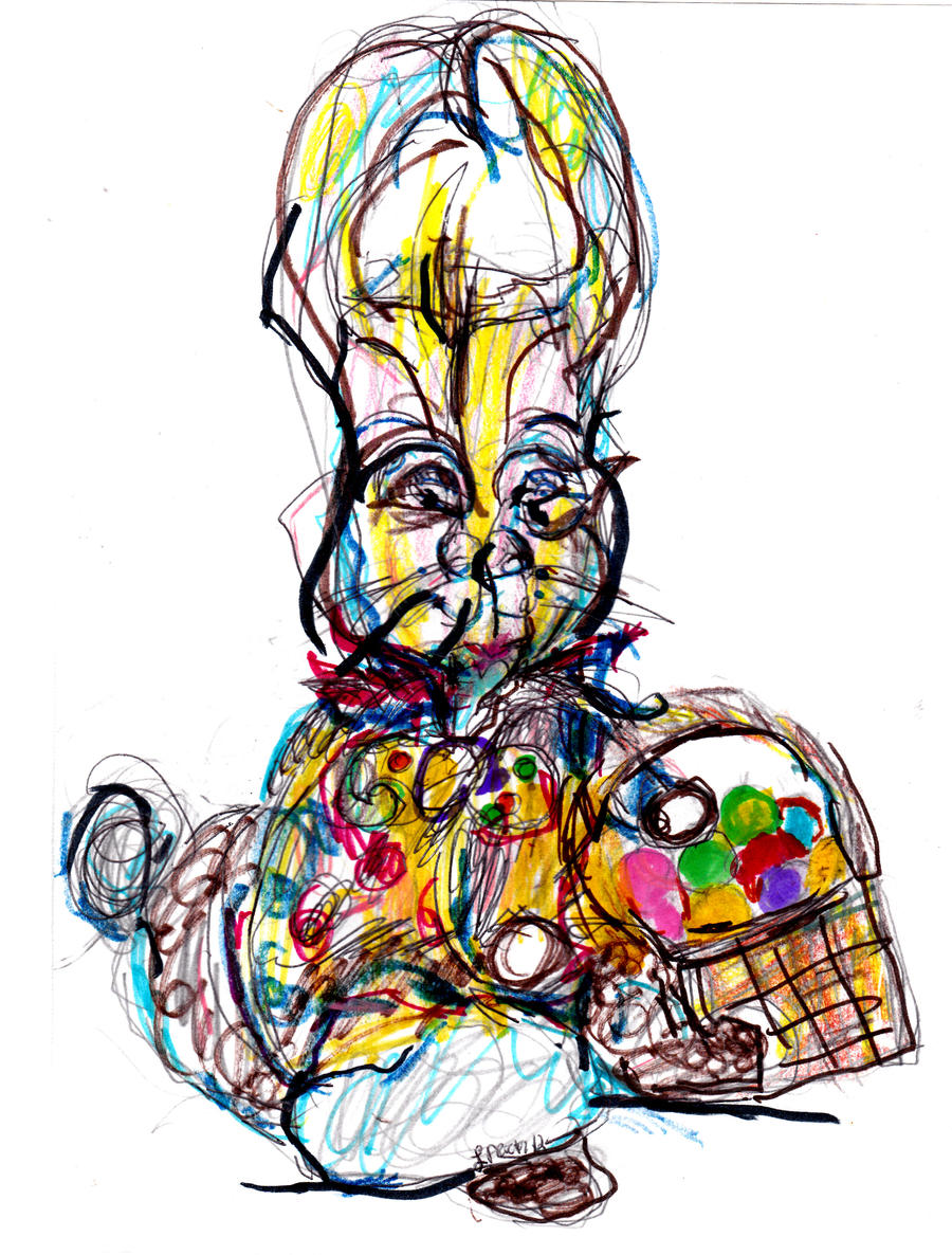 Easter Bunny 2  LProctor by LaurieLefebvre