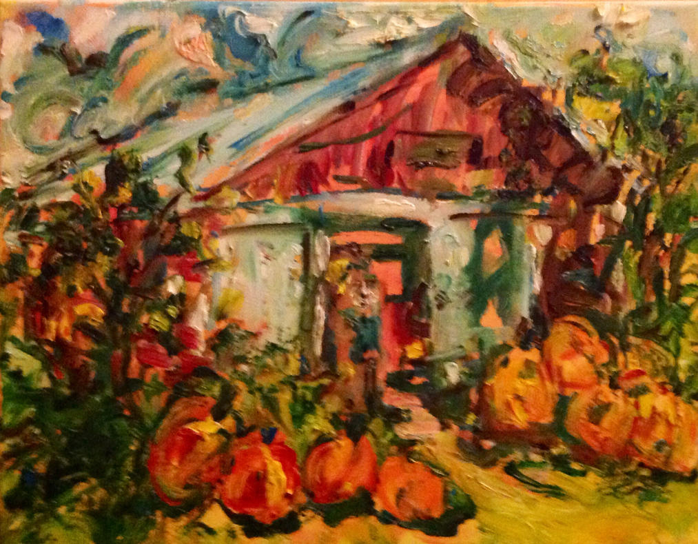Just a Maine farm in the Fall  Lefebvre by LaurieLefebvre