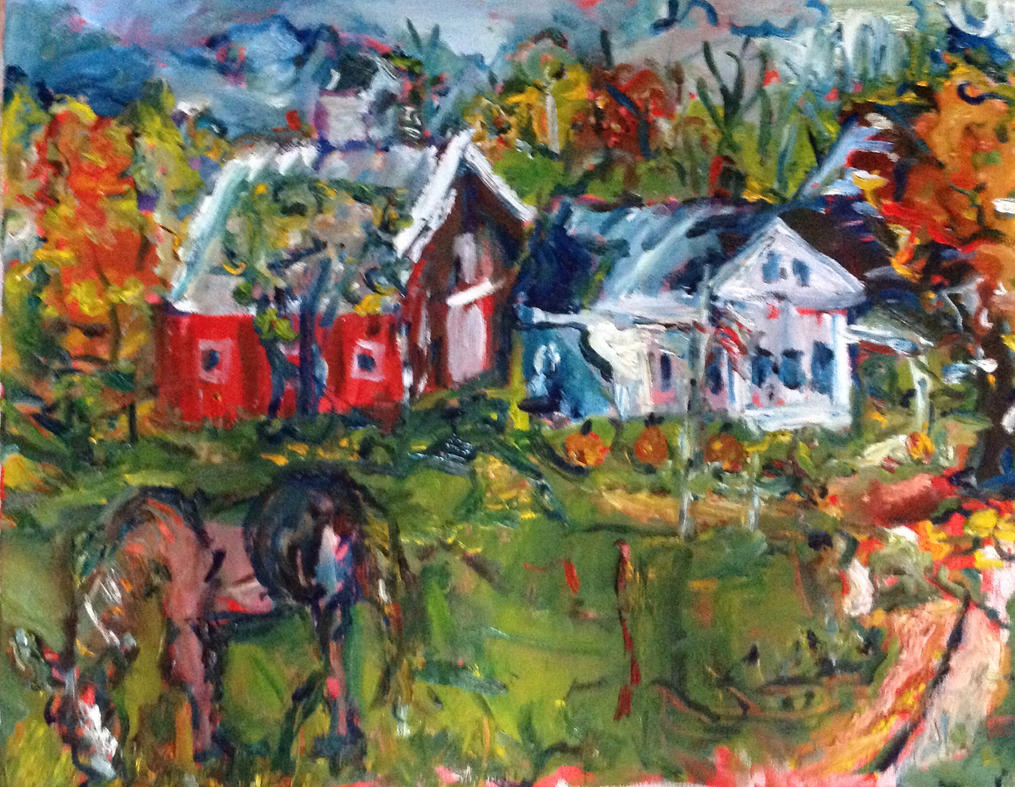 Another Maine farm LLefebvre by LaurieLefebvre
