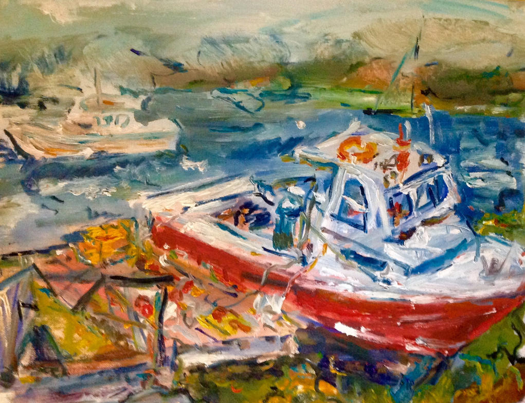 Maine coast (sold) by LaurieLefebvre