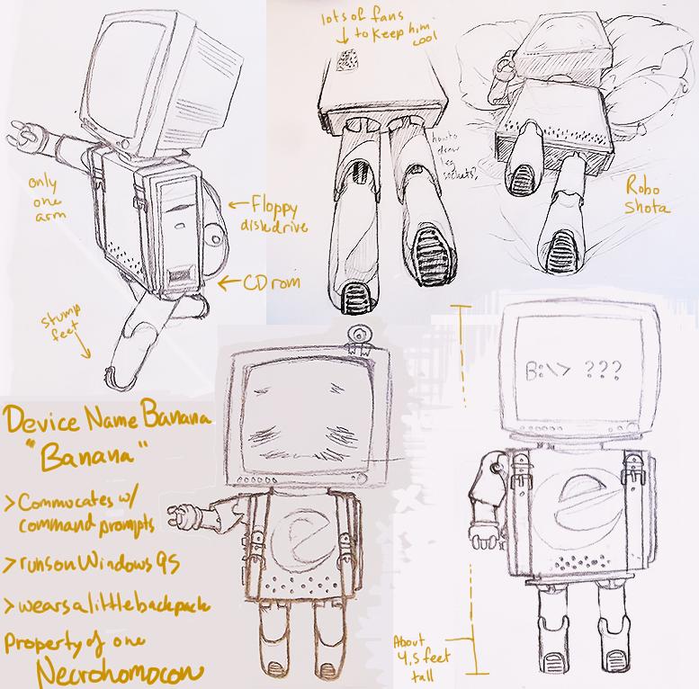 OC: Device Name BANANA by Necrohomocon