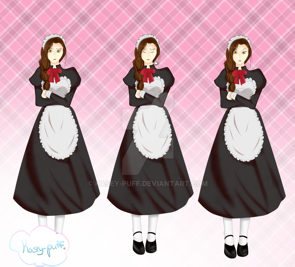 Maid Sprite Sheet by Kasey-Puff