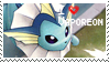 Vaporeon Stamp by StrawberrieMew