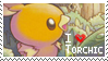 Torchic Stamp by StrawberrieMew