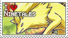 Ninetales Stamp by StrawberrieMew