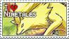 Ninetales Stamp by StrawberrieMew
