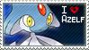 Azelf Stamp by StrawberrieMew