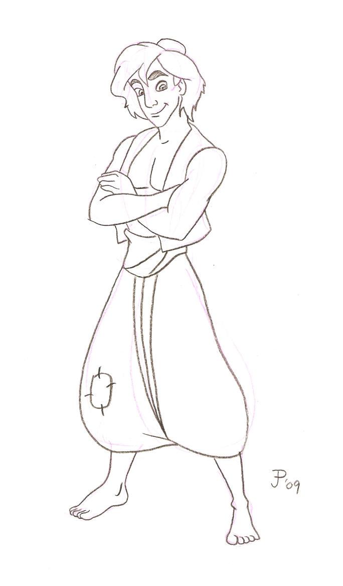 Aladdin sketch by mickeyminnie on deviantart