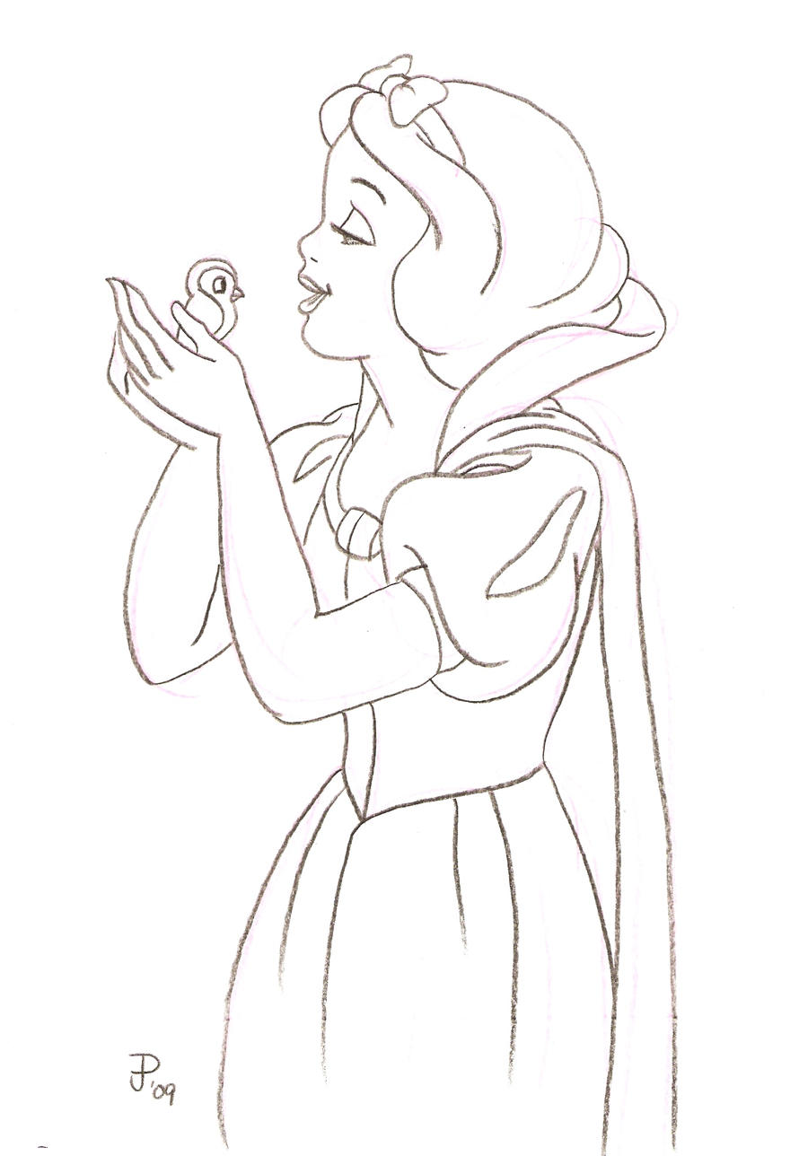 Snow Princess Coloring Pages