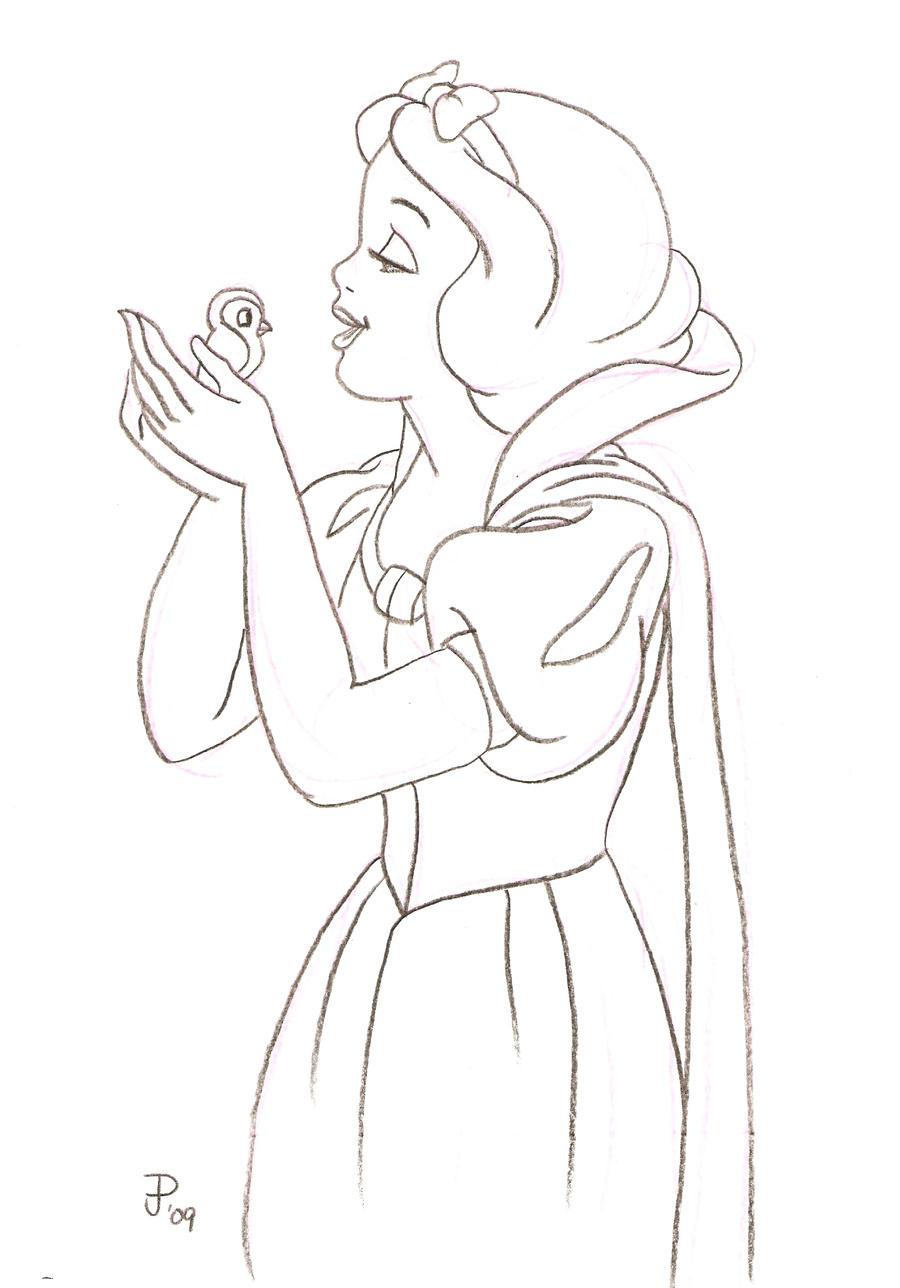 Snow White Sketch 145951435 on Apple Watch