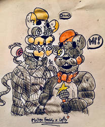 Molten Freddy and Lefty - [:~G I F T~:] by LolBiter