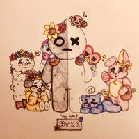 Happy Easter from the BT21 crew !  by LolBiter