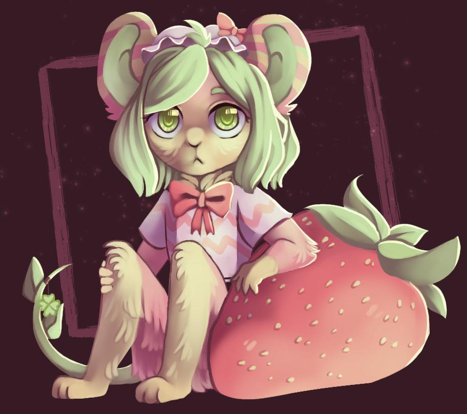 strawberry mouse by rottingichor