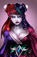 Geisha Harley Quinn by WhitneyCook