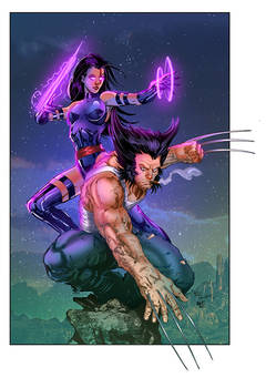 Pyslocke And Wolverine Colours