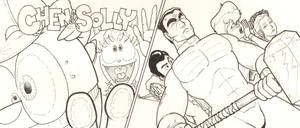 Chen -n- Solly and Hammer of God Promo Art