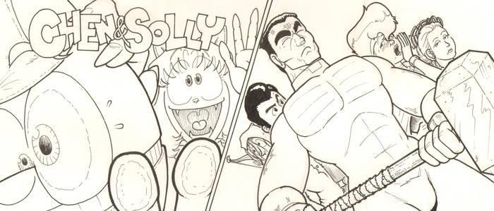 Chen -n- Solly and Hammer of God Promo Art by GarthHaslam