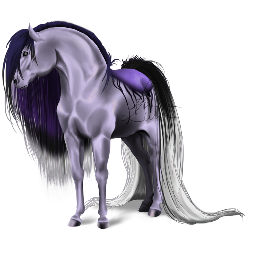New Horse - Colored Version I by LamiaLuna13