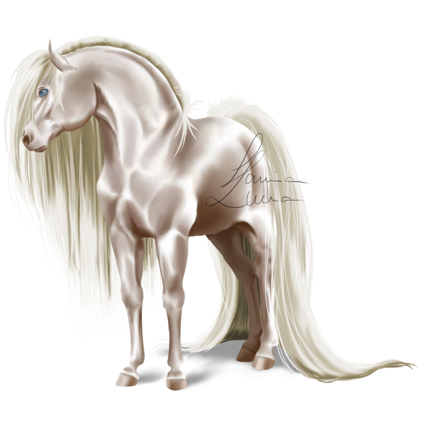 New Horse - Colored Version III by LamiaLuna13