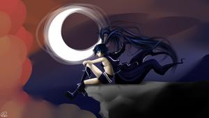 Black Rock Shooter at moonshine
