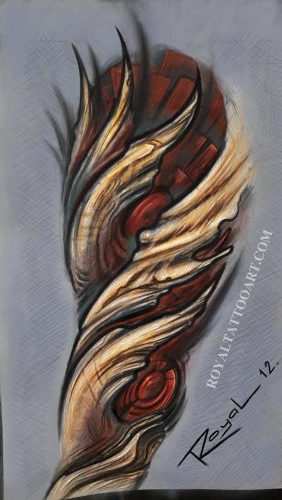 bio organic tattoo design by royal3 on deviantart. Black Bedroom Furniture Sets. Home Design Ideas