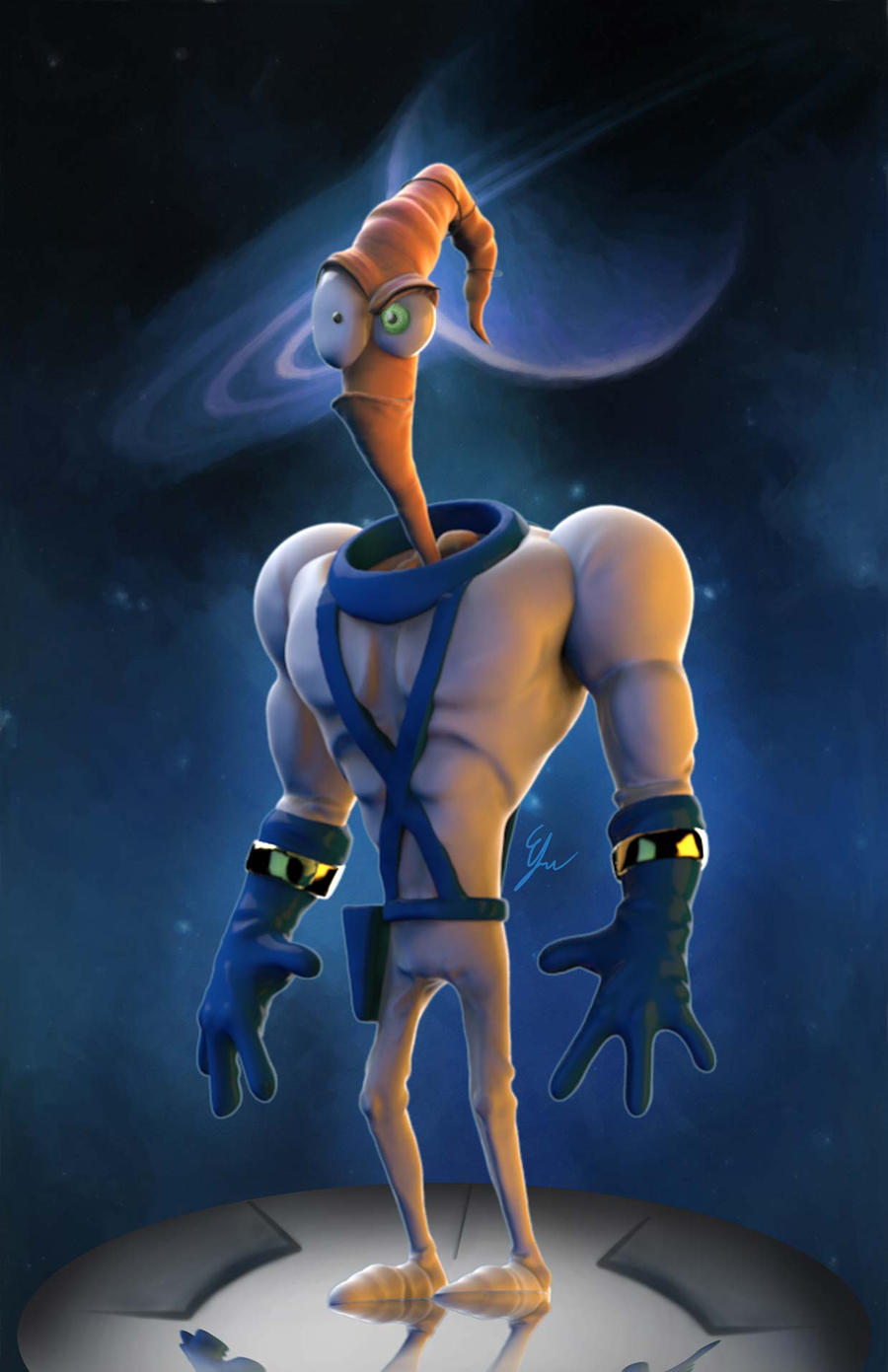Earthworm Jim by Efraimrdz on DeviantArt