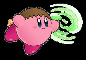 Kirby Smash abilities - kirby villager by Efraimrdz