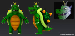 King Koopa lowpoly by Efraimrdz