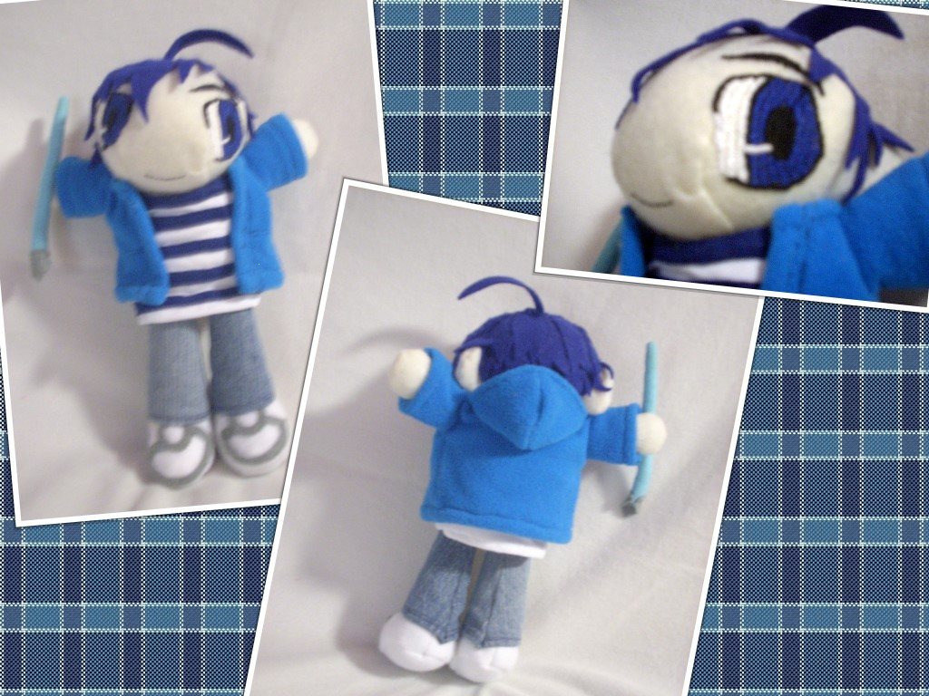 Moritaka Mashiro Bakuman Plush Art Doll by sakihrumino