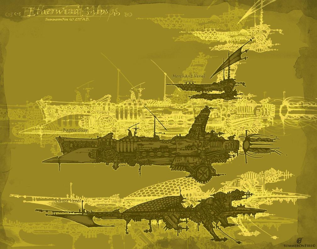 Etherwind Ship Fleet by summeronfire