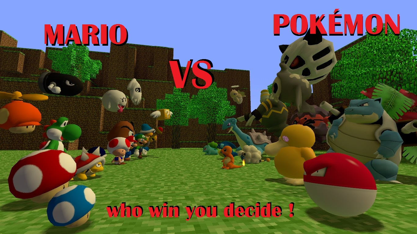Amazing Wallpaper Minecraft Pokemon - mario_vs_pokemon_by_mtvkiller-d4a2ogb  Graphic_194999.jpg