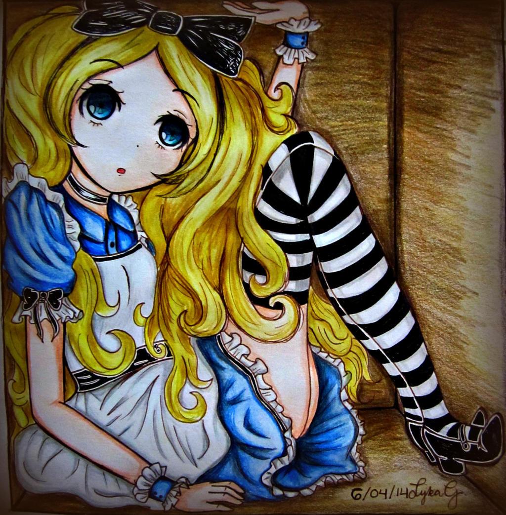 Alice in Wonderland~ (FanArt) by Lykie-chan on DeviantArt