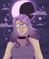 Artfight 2019: Purple Moon