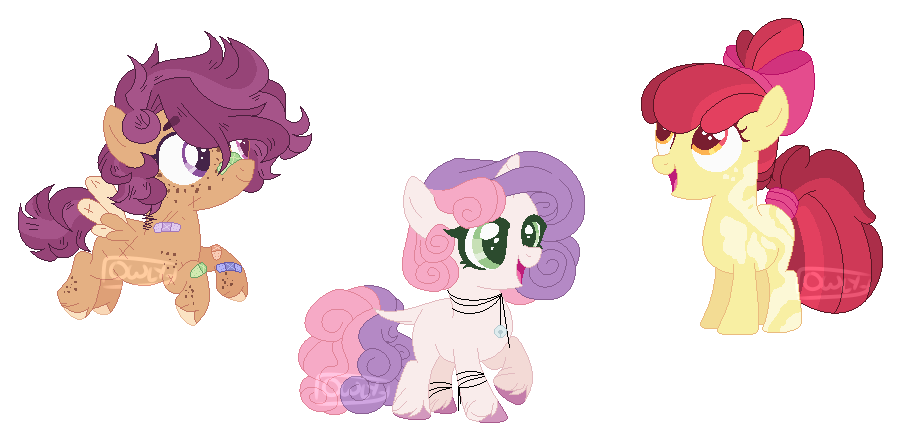 Mlp Headcanon Younger Cmc By Owl Clockwork On Deviantart She first appears in friendship is magic, part 1, and she is later properly introduced in call of the cutie. mlp headcanon younger cmc by owl
