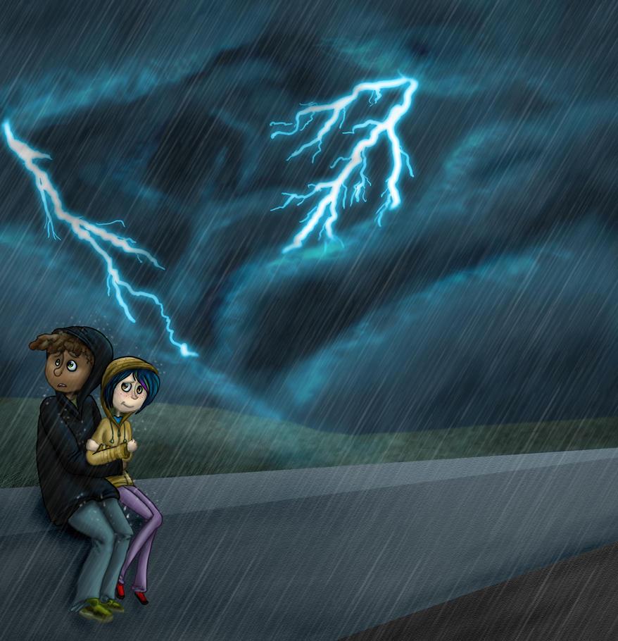 lightning is scary sometimes by zakeno on deviantart